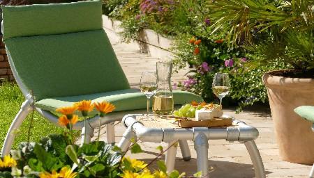 steigerbuizen lounge stoel tuin