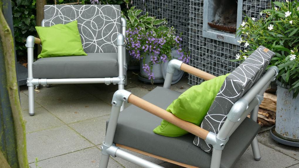 steigerbuizen loungestoelen voor buiten in de tuin